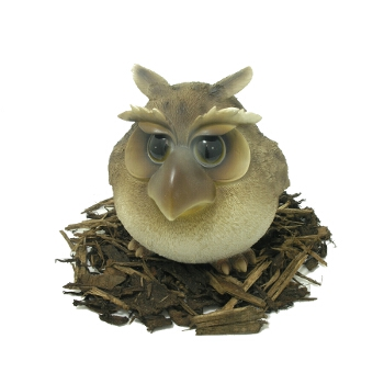 Cute and Playful Wise Owl Father - Resin Garden Ornament - Spin Image