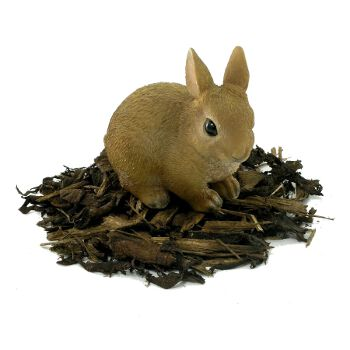 Baby Rabbit - Resin Garden Ornament - Spin Image