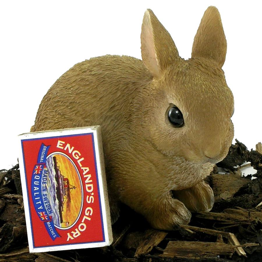 Baby Rabbit - Resin Garden Ornament - £4.99 | Garden4Less UK Shop