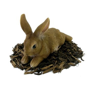 Laying Rabbit - Resin Garden Ornament - Spin Image