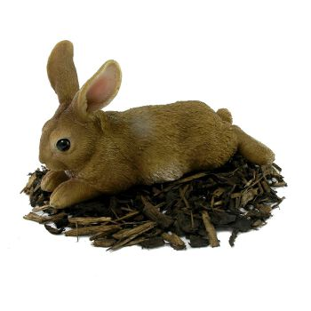 Image of Laying Rabbit - Resin Garden Ornament