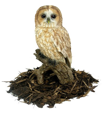 Tawny Owl - Resin Garden Ornament - Spin Image